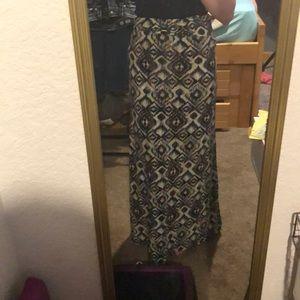 Hot Kiss floor length skirt